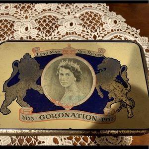 ER Coronation Tin 1953 - Dunedin NZ company